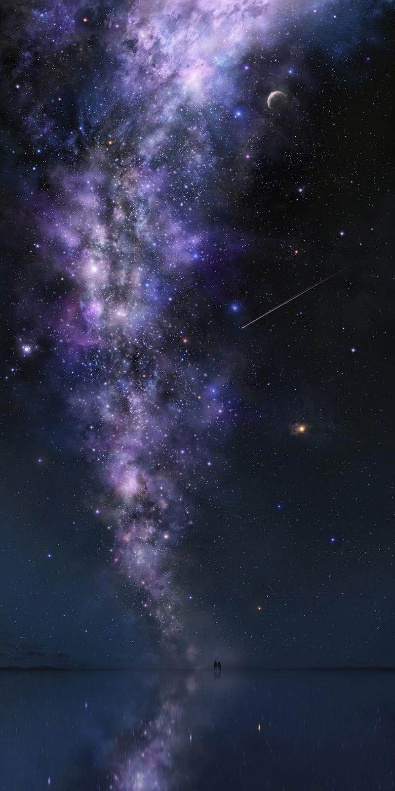 Under starry sky