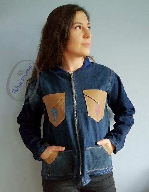 Adzik tworzy - kurtka jeansowa DIY uszyta ze spodni