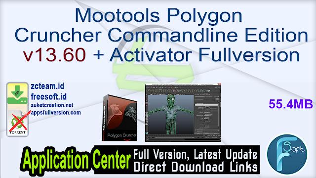 Mootools Polygon Cruncher Commandline Edition v13.60 + Activator Fullversion