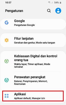 Pengaturan Samsung - Izin Aplikasi
