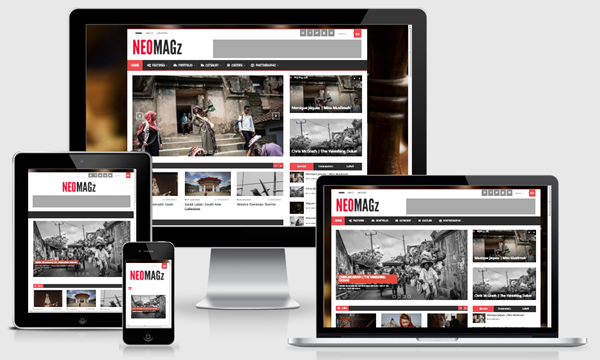 Neomagz responsive template