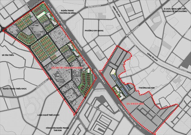 Phân khu Athens thuộc lô đất Tây Nam Kim Giang của đại dự án Athena Fulland