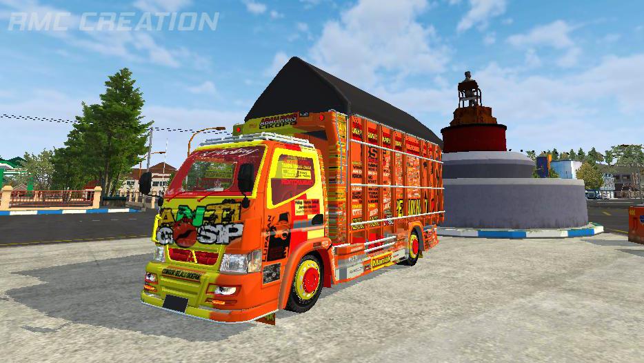 Canter Anti Gosip Truck Mod, Download Mod Truck Canter Anti Gosip for BUSSID, BUSSID Truck Mod, Canter Anti Gosip Mod BUSSID, RMC Creation