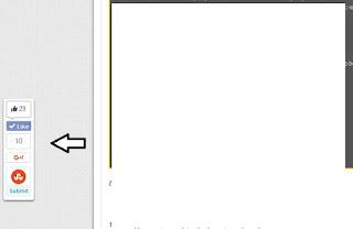 Cara Memasang Widget Share/berbagi Melayang Di Blog