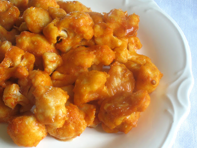 spicy cauliflower bites