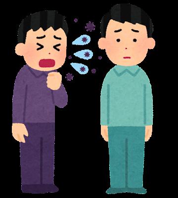 飛沫感染のイラスト(感染症)