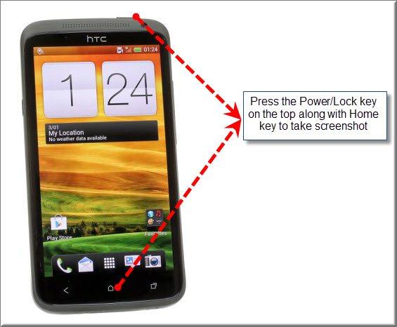 cara ambil screenshoot pada HTC