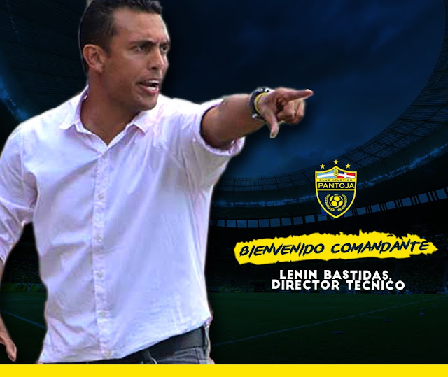 Lenin Bastidas, nuevo director técnico del Club Atlético Pantoja