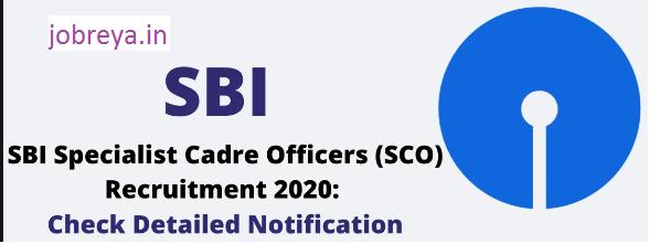 SBI SCO Vacancy 2020