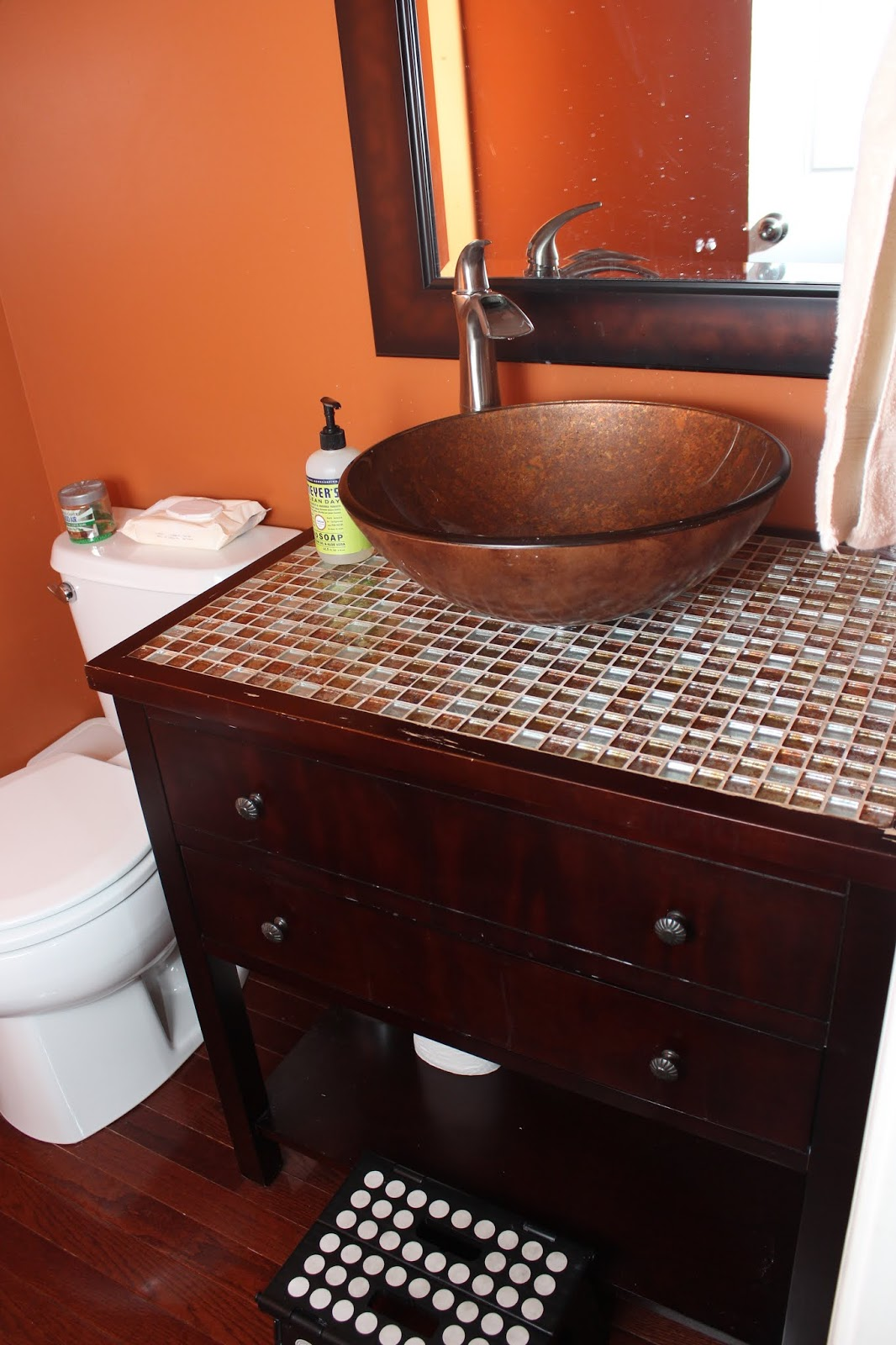 making over a bathroom vanity