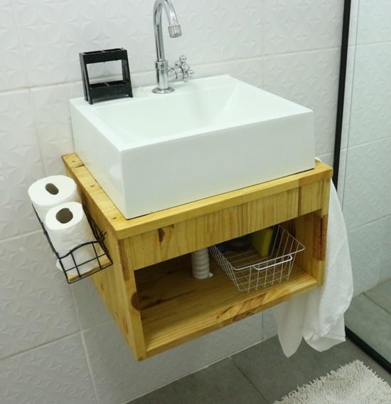 pia banheiro, banheiro, decoração, decor, faça você mesmo, como fazer, diy, a casa eh sua, decoração