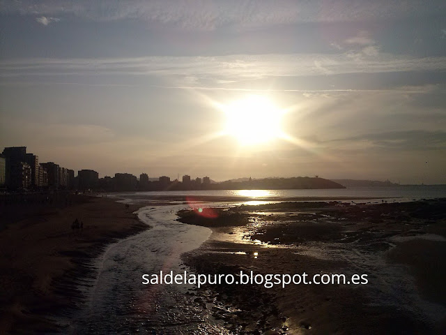 ocaso-playa-san-lorenzo-gijón