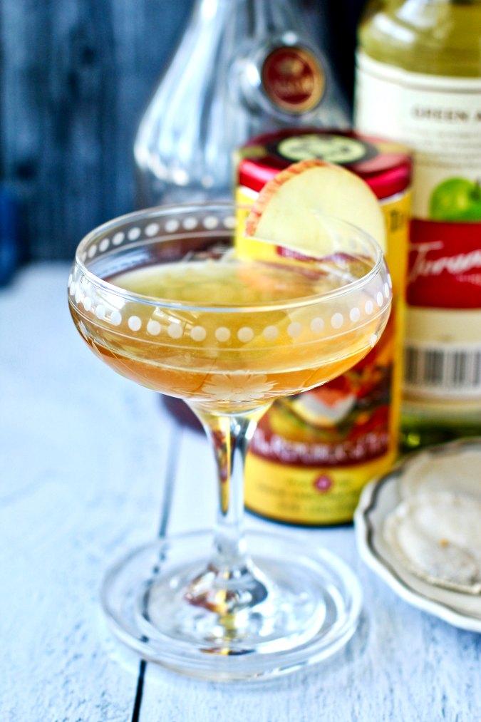 Apple Sidecar Cocktail with tea infused cognac