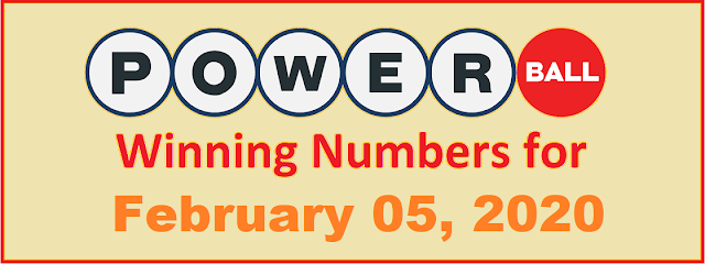 PowerBall Winning Numbers for Wednesday, February 05, 2020