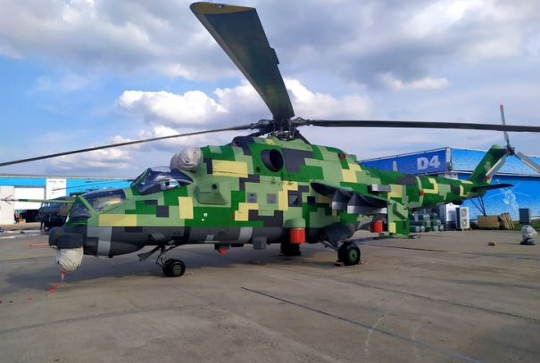 Mil Mi-24P-1M modern combat helicopter