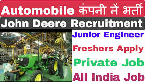 John Deere Company Urgently Require Diploma Candidates Pool Campus Drive via Skype /Telephonic Interview
