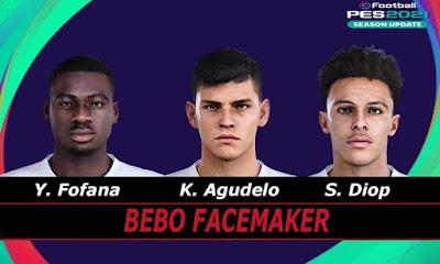 PES 2021 Faces K. Agudelo & S. Diop & Y. Fofana by Bebo