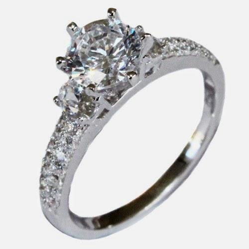 Blue Diamond Promise Ring