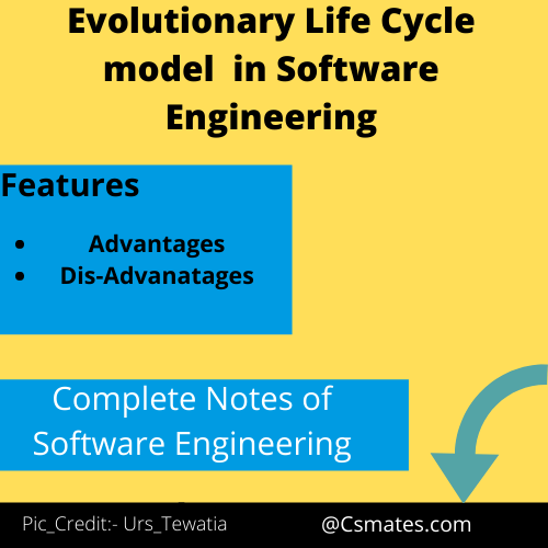 Evolutionary development life cycle model in software engineering