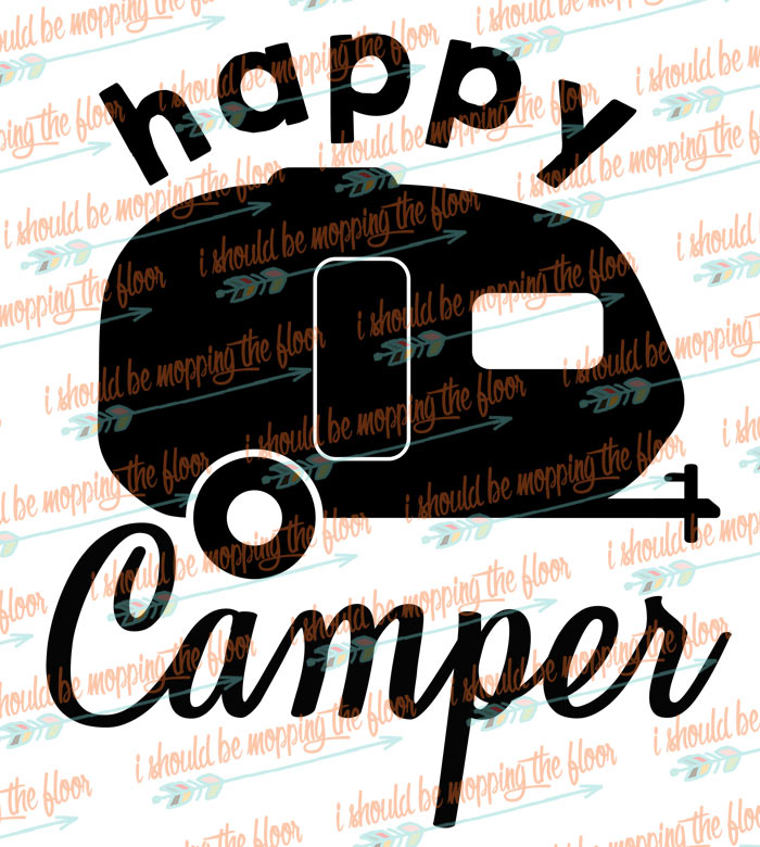 Happy Camper Cut File