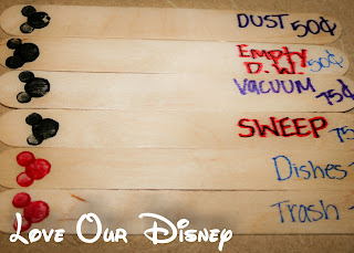 Do Mickey heads make chores more enjoyable? This is a cute chore bucket idea from LoveOurDisney.com