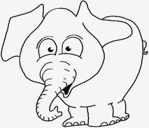 Elephant Coloring Pages and Book  UniqueColoringPages