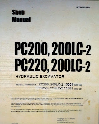 Shop Manual PC200-2 pc200lc-2 pc220-2 pc220lc-2