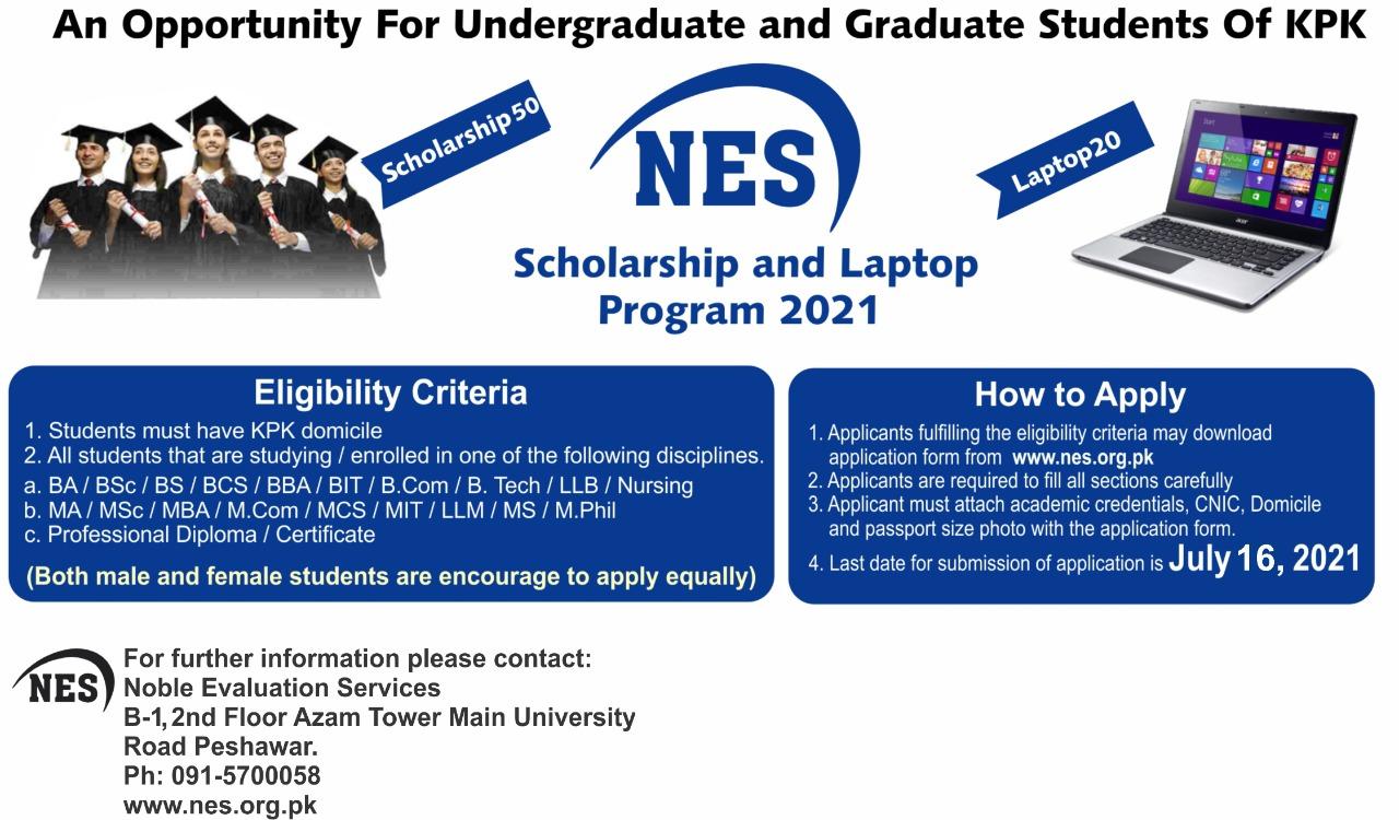 Undergraduate Scholarship And Laptop Program 2021