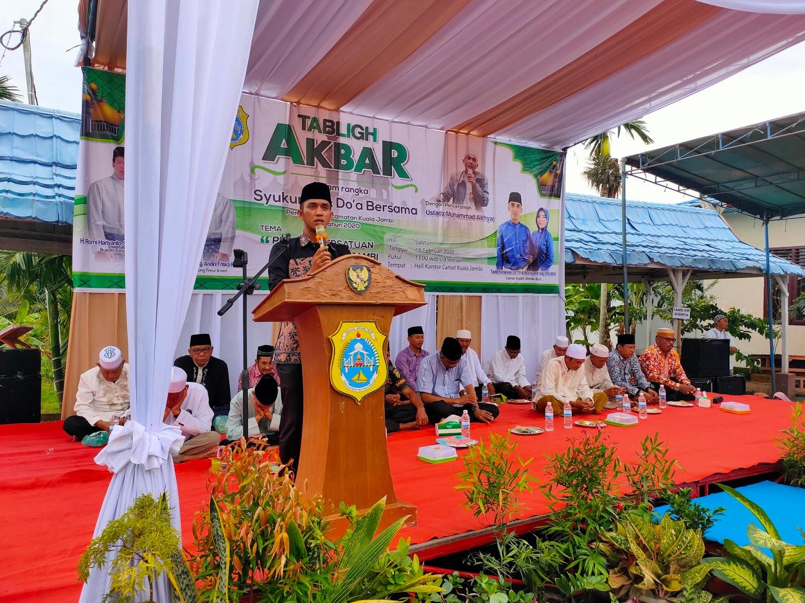 1 Tahun Pimpin Kuala Jambi, Taufiq : Saya Banyak Dapat Keluarga Baru Disini