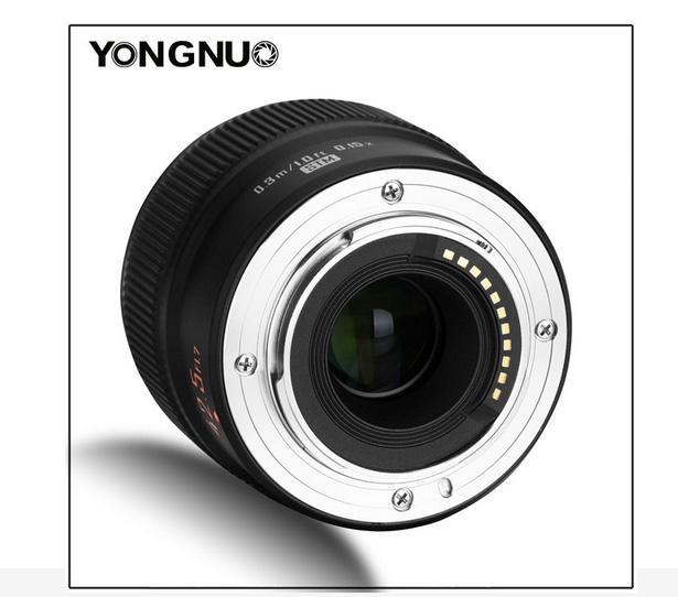 Yongnuo YN 42.5mm f/1.7M II, вид сзади