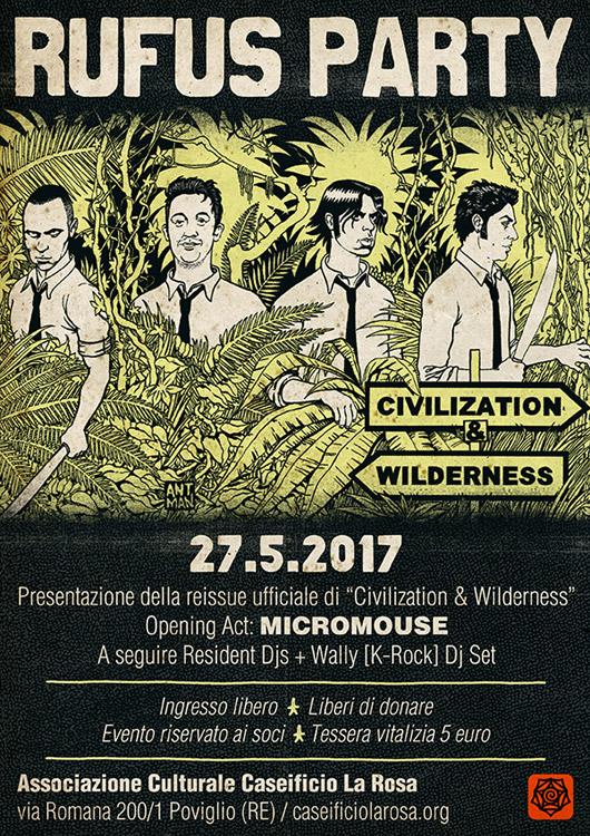 """Presentazione della reissue ufficiale del disco """"Civilization & Wilderness"""", opening act Micromouse"""