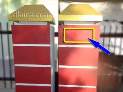 tempat plang nomor akan dipasang