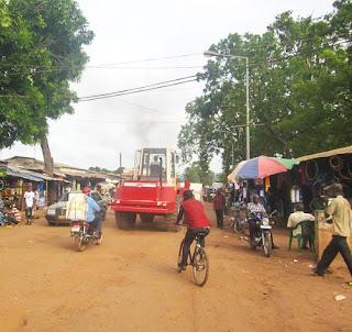 Bike riding in Guinea-Bissau near the town of Gabu Koundara