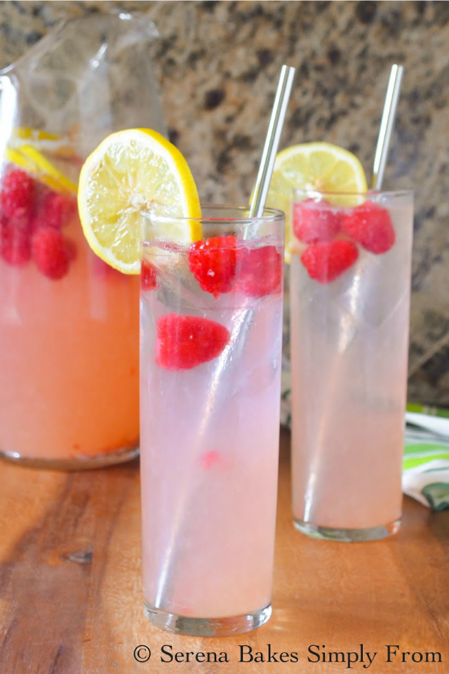 Sparkling Raspberry Lemonade recipe with a cocktail option is easy to make and perfect for 4th of July and summer bbq's.