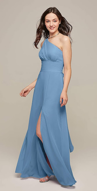 Beautiful One Shoulder Chiffon Bridesmaid Dresses