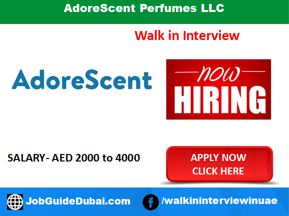 AdoreScent Perfumes LLC career for sales Executive jobs in Dubai UAE