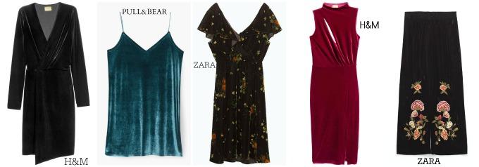 vestidos terciopelo low cost