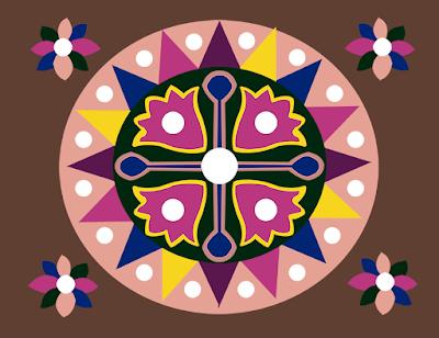 flower textile repeat 7060