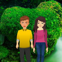 Play BigEscapeGames Valentine Heart Forest Escape