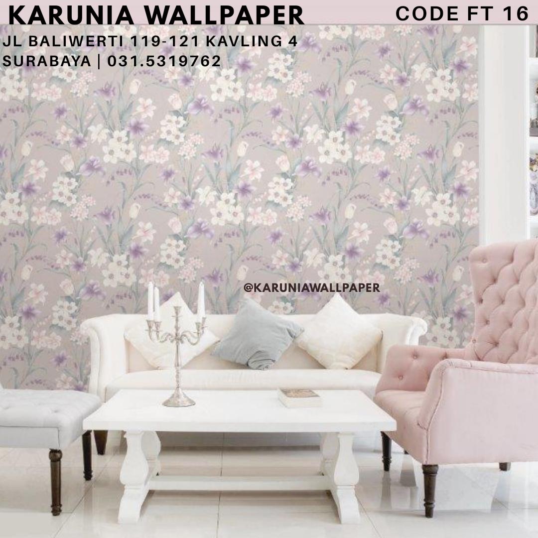 jual wallpaper dinding bunga pink