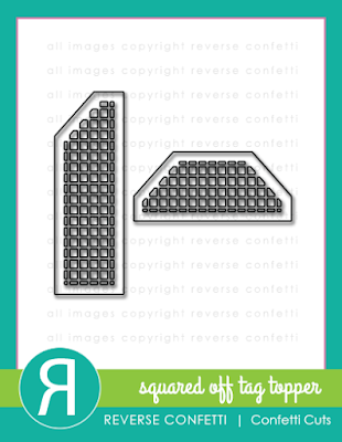 squared off tag topper