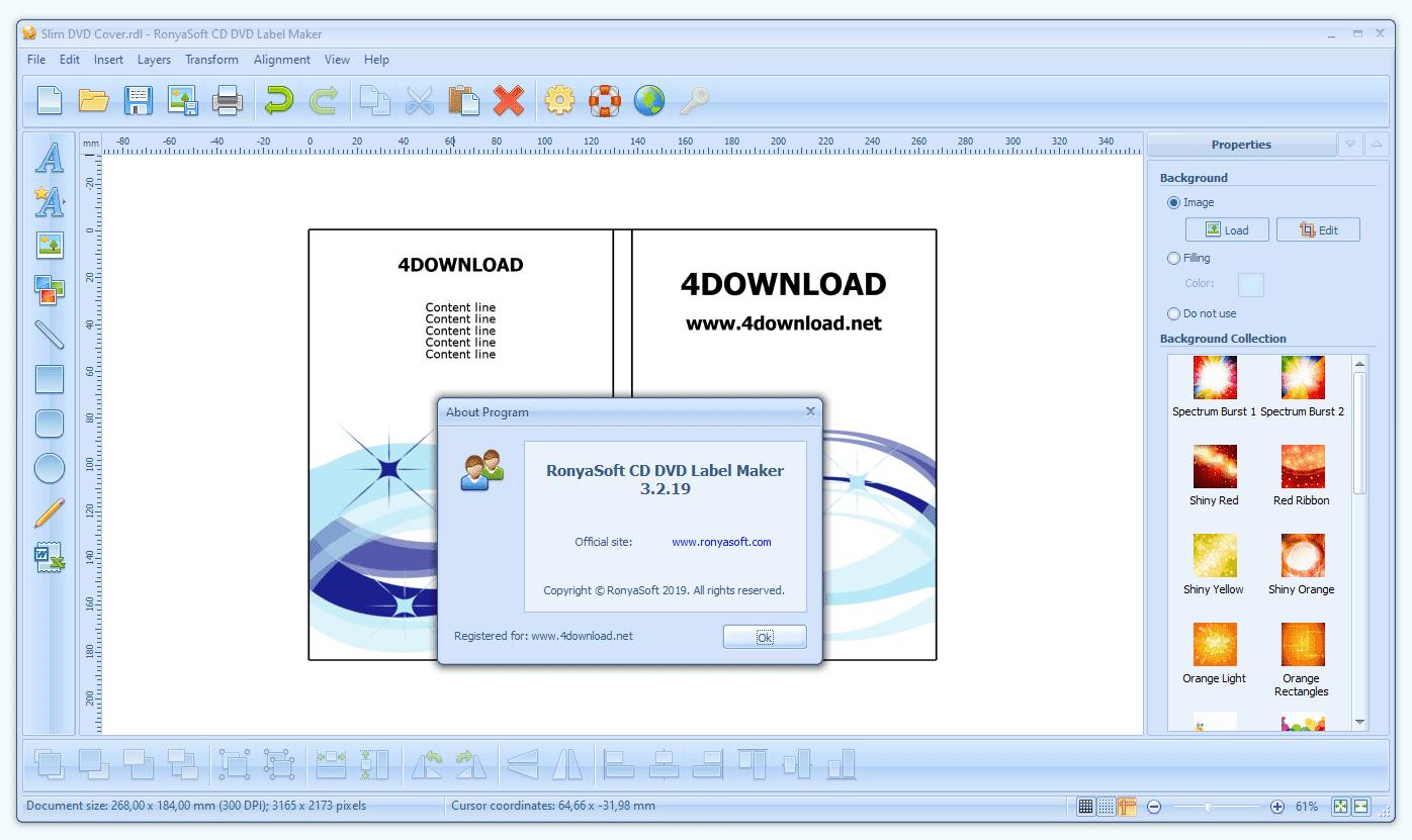 RonyaSoft - CD DVD Label Maker v3.2.19 Full version