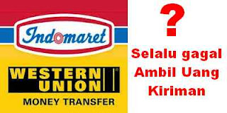 western union indomaret gagal