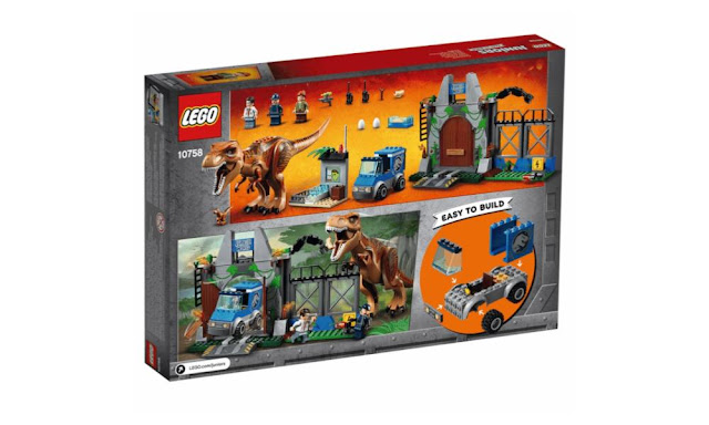 10758 – LEGO Juniors T-Rex Breakout – $49.99 | 150 pieces | Ages 4+