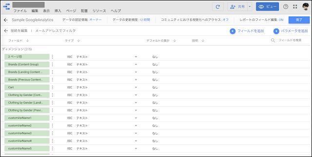 1.データソースの編集画面をひらく