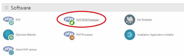 Select PHP Pear Packages from cPanel Admin to install Zip_Archive Module for PHP