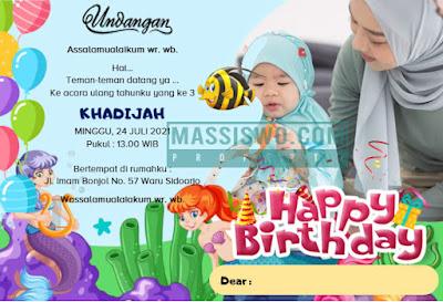 kartu undangan ulang tahun bahasa inggris