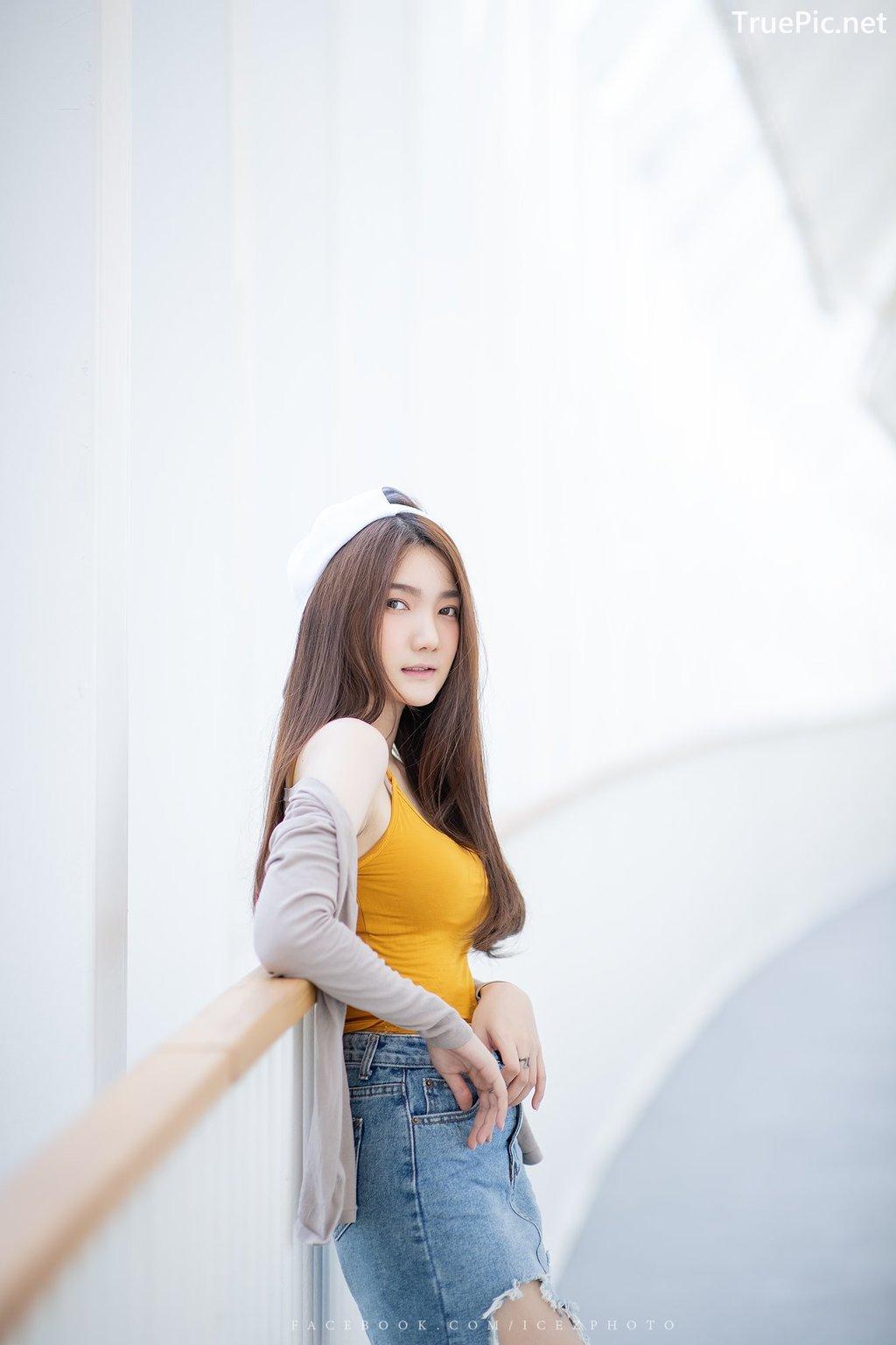 Image-Thailand-Cute-Model-Creammy-Chanama-Beautiful-Angel-In-Flower-Garden-TruePic.net- Picture-1