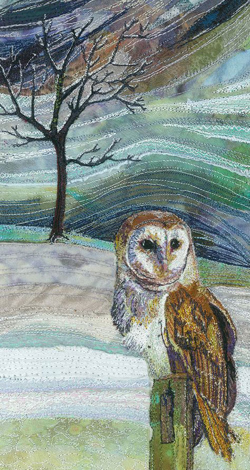 My Owl Barn Embroidered Textile Quot Paintings Quot By Rachel Wright