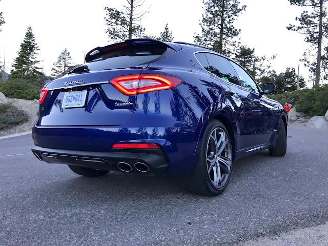 Rear 3/4 view of 2019 Maserati Levante S GranSport